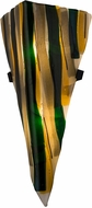 Meyda Tiffany 184392 Fettuccine Contemporary French Vanilla / Adventine Green / Amber / Charcoal Grey Irid / Black Stingers Wall Lighting Sconce