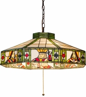 Meyda Tiffany 184491 Poker Face Tiffany Beige Red Hanging Pendant Light