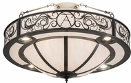 Meyda Tiffany 184499 Personalized TA Charcoal Gray White Swirl Acrylic Overhead Lighting Fixture