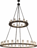 Meyda Tiffany 184931 Loxley Modern Timeless Bronze Chandelier Light