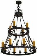 Meyda Tiffany 185067 Lakeshore Antique Iron Gate Chandelier Light
