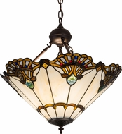 Meyda Tiffany 185578 Shell with Jewels Tiffany Hanging Light Fixture