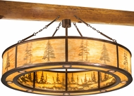 Meyda Tiffany 185816 Tall Pines Country New Copper Vein New Mica Acrylic Drum Drop Lighting