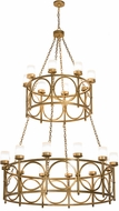 Meyda Tiffany 186084 Porta Gold Metallic Lighting Chandelier
