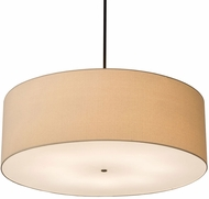 Meyda Tiffany 186123 Cilindro Textrene Timeless Bronze Drum Pendant Lamp