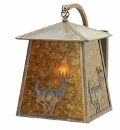 Meyda Tiffany 18616 Stillwater Lone Deer 20  Tall Wall Outdoor Light Fixture