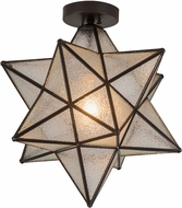 Meyda Tiffany 186688 Moravian Star Modern Brown Flush Mount Lighting