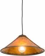 Meyda Tiffany 187039 Van Erp Amber Mica Indoor / Outdoor Pendant Lighting Fixture