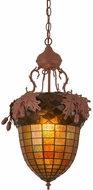 Meyda Tiffany 187087 Oak Leaf & Acorn Country Rust Hanging Pendant Light