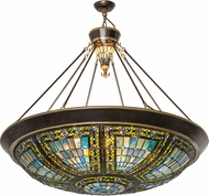 Meyda Tiffany 187203 Fleur-de-lis Tiffany Hanging Light Fixture