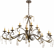 Meyda Tiffany 187263 Windsor Traditional Golden Bronze Chandelier Light