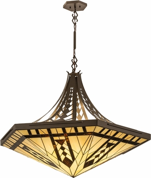 Meyda Tiffany 187328 Sonoma Tiffany Bronze Ceiling Light Pendant