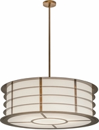 Meyda Tiffany 187363 Zarkov Black Hills Gold White Acrylic Drum Ceiling Pendant Light
