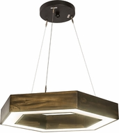 Meyda Tiffany 187726 Jefferson Contemporary Antique Copper LED Drop Ceiling Light Fixture