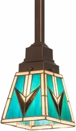 Meyda Tiffany 187890 Valencia Mission Tiffany Amber Beige Mini Drop Lighting Fixture