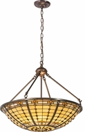 Meyda Tiffany 187942 Fleur-de-Lite Tiffany Brass Pendant Lighting