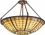 Meyda Tiffany 187967 Fleur-de-Lite Tiffany Flush Ceiling Light Fixture