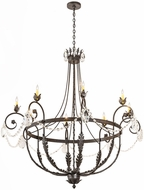 Meyda Tiffany 188131 Antonia Traditional Chestnut Chandelier Light