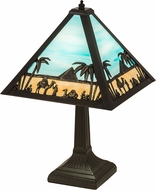 Meyda Tiffany 188316 Camel Mission Brown Table Light