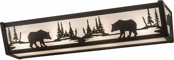Meyda Tiffany 188350 Bear at Lake Rustic Oil Rubbed Bronze Lighting For Bathroom