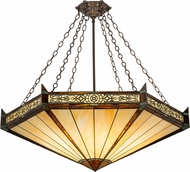 Meyda Tiffany 188574 Peaches Tiffany Mahogany Bronze Pendant Lighting