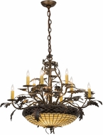 Meyda Tiffany 188594 Greenbriar Oak Dark Burnished Antique Copper Chandelier Lighting
