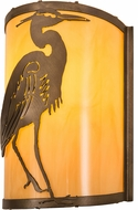 Meyda Tiffany 188604 Heron Antique Copper Earth Marble Acrylic Wall Sconce Lighting