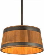 Meyda Tiffany 188647 Whiskey Barrel Rustic Drum Pendant Lamp
