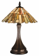 Meyda Tiffany 18868 Jadestone Delta Tiffany Mahogany Bronze Finish 13  Wide Table Top Lamp