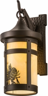 Meyda Tiffany 188763 Winter Pine Country Midnight Bronze Light Sconce