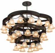 Meyda Tiffany 188858 Cretella Modern Beige Glass Solar Black Chandelier Light