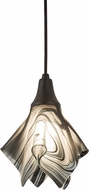 Meyda Tiffany 189052 Metro Fusion Noir Swirl Contemporary Black Noir Swirl Mini Pendant Lamp
