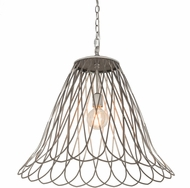 Meyda Tiffany 189149 Larme Contemporary Matte Clear�over Steel LED Pendant Lighting Fixture