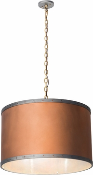 Meyda Tiffany 189155 Cilindro Hanover Copper Drum Hanging Pendant Light