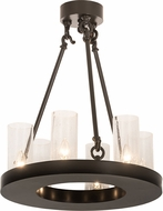 Meyda Tiffany 189306 Loxley Modern Timeless Bronze Mini Ceiling Chandelier