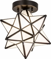 Meyda Tiffany 189645 Moravian Star Modern Brown Overhead Lighting Fixture