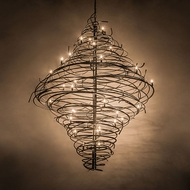 Meyda Tiffany 189763 Cyclone Contemporary Cosmic Silver Vein Chandelier Lighting