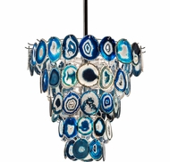Meyda Tiffany 189838 Agata Modern Agate Chrome Plated Ceiling Light Pendant