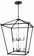 Meyda Tiffany 189861 Kitzi Tapered Texture Black Entryway Light Fixture