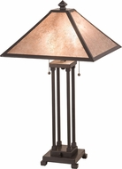 Meyda Tiffany 190083 Van Erp Silver Mica Timeless Bronze Table Lamp