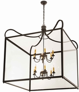 Meyda Tiffany 190125 Rennes Clear Glass Wrought Iron Foyer Lighting