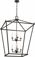 Meyda Tiffany 190127 Kitzi Tapered Black Textured Foyer Light Fixture