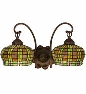 Meyda Tiffany 19014 Jeweled Basket Tiffany Green/Blue Wall Sconce Lighting