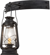 Meyda Tiffany 190213 Miner's Lantern Vintage Clear Glass Costello Black Wall Lighting Fixture