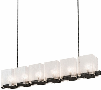 Meyda Tiffany 190616 Ice Cube Contemporary Clear Textured Glass Smoke Kitchen Island Lighting