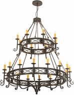 Meyda Tiffany 190675 Gina Bronze Ceiling Chandelier