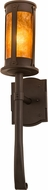 Meyda Tiffany 190725 Beartooth Amber Mica Oil Rubbed Bronze Wall Lamp