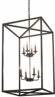 Meyda Tiffany 190857 Kitzi Box Textured Black Entryway Light Fixture