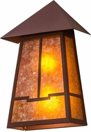 Meyda Tiffany 19115 Stillwater Valley View Craftsman Rust / Amber Mica Sconce Lighting