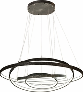 Meyda Tiffany 191286 Anillo Modern Statuario Idalight Gunmetal LED Hanging Light